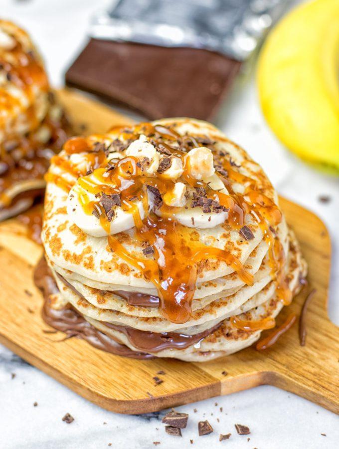 Vegan Caramel Nutella Pancakes
