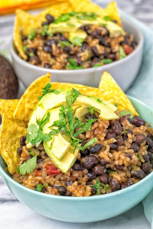 Vegetarian BBQ Burrito Bowl | #vegan #glutenfree #contentednesscooking #plantbased #dairyfree