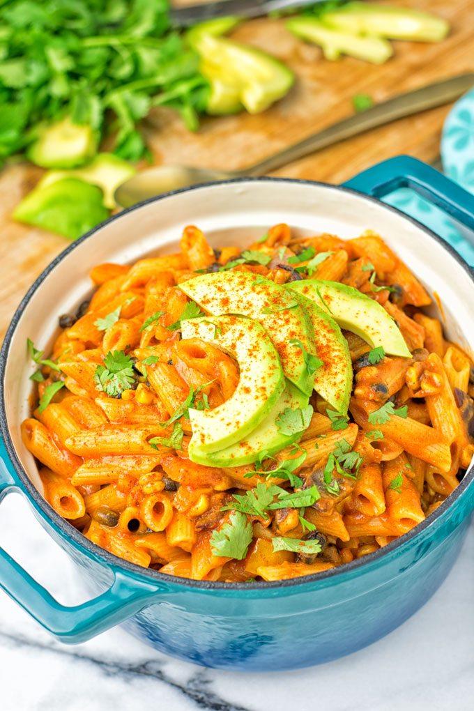 Vegetarian Fajita Pasta | #vegan #glutenfree #contentednesscooking #plantbased #dairyfree