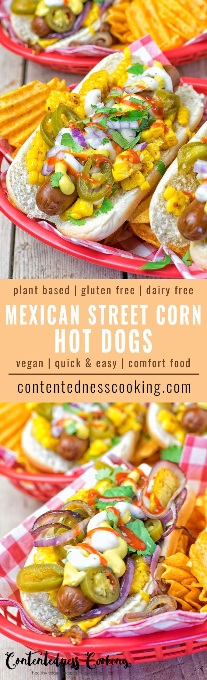 Mexican Street Corn Hot Dogs | #vegan #glutenfree #contentednesscooking #dairyfree #plantbased
