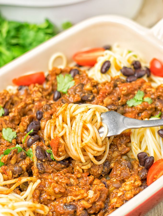Vegetarian Cincinnati Chili | #vegan #glutenfree #contentednesscooking #plantbased #dairyfree