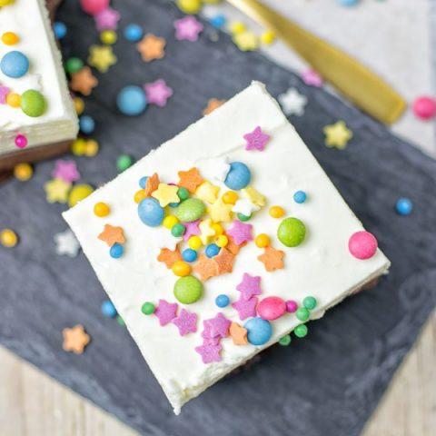 Oreo Brownie Bottom Funfetti Cake | #vegan #glutenfree #contentednesscooking
