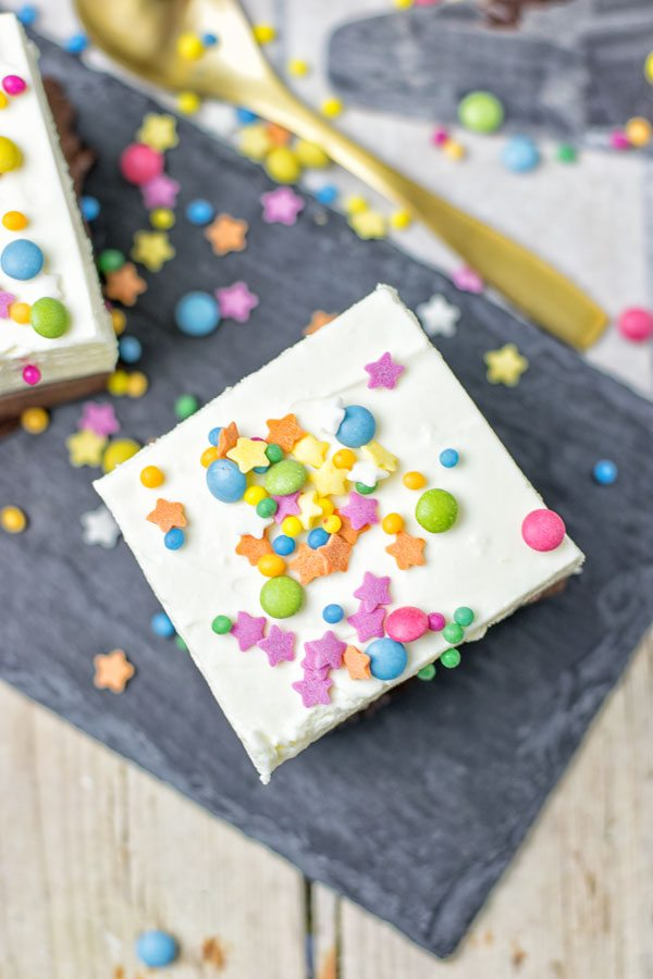Oreo Brownie Bottom Funfetti Cake | #vegan #glutenfree #contentednesscooking