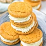 Whoopie Pie Ginger Cookies #vegan #glutenfree #contentednesscooking