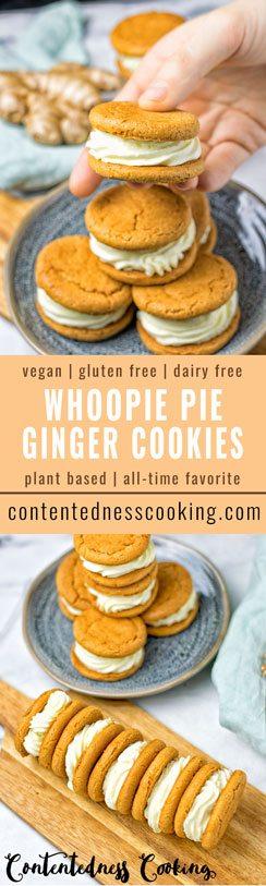 Whoopie Pie Ginger Cookies #vegan #glutenfree #contentednesscooking