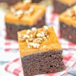 Salted Caramel Brownies with Maple Pecans | #vegan #glutenfree #contentednesscooking #plantbased