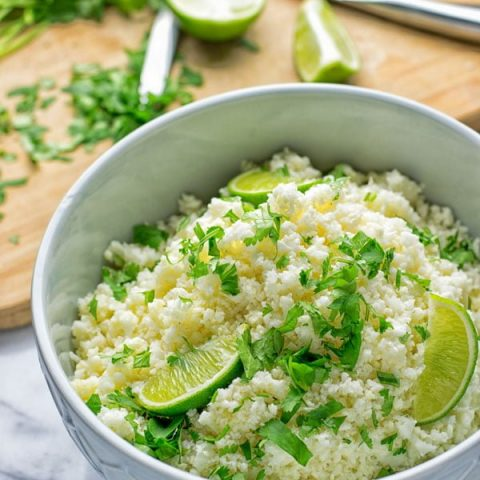Cilantro Lime Cauliflower Rice | #vegan #glutenfree #contentednesscooking
