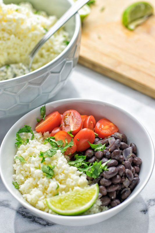 Cilantro Lime Cauliflower Rice | #vegan #glutenfree #contentednesscooking