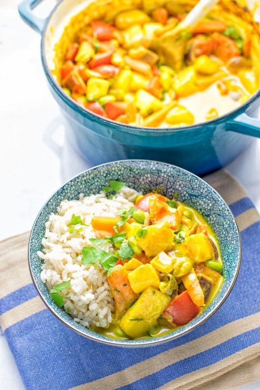 Coconut Cream Pineapple Curry | #vegan #glutenfree #contentednesscooking
