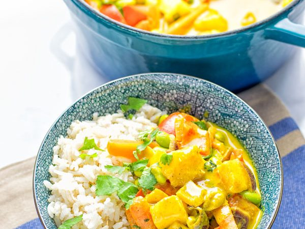 Coconut Cream Pineapple Curry | #vegan #glutenfree #contentednesscooking