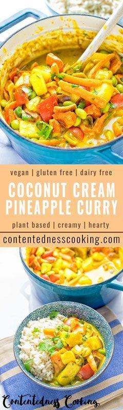 Coconut Cream Pineapple Curry   #vegan #glutenfree #contentednesscooking