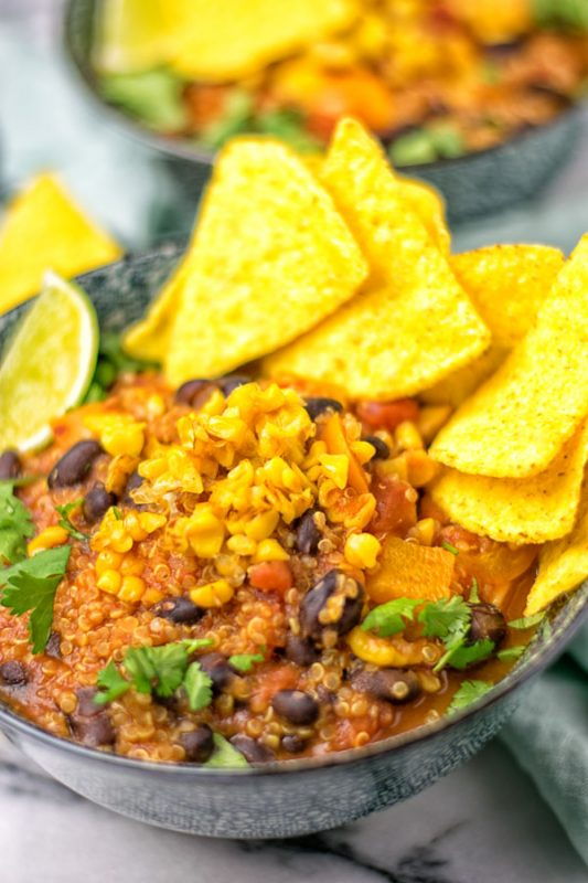 Mexican Quinoa Tortilla Soup #vegan #glutenfree #plantbased #contentednesscooking