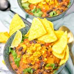 Mexican Quinoa Tortilla Soup #vegan #glutenfree #plantbased #contentednesscooking