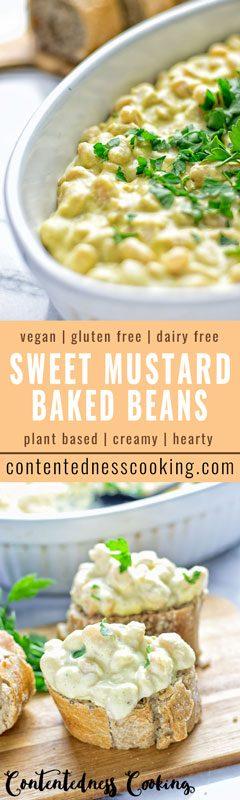 Sweet Mustard Baked Beans | #vegan #contentednesscooking #glutenfree