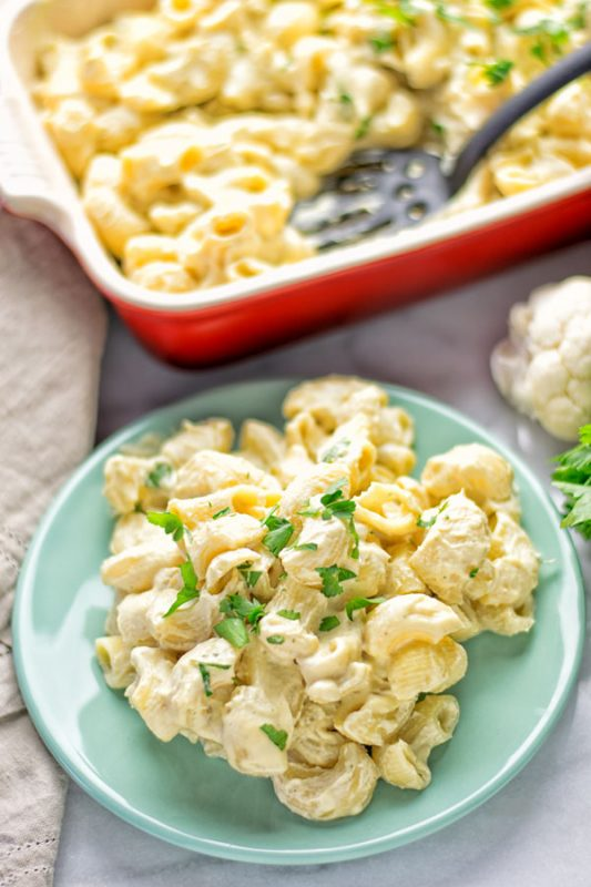 Cauliflower Mac & Cheese | #vegan #glutenfree #contentednesscooking