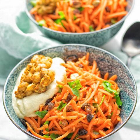 Moroccan Carrot Salad | #vegan #contentednesscooking #glutenfree #salad #carrot