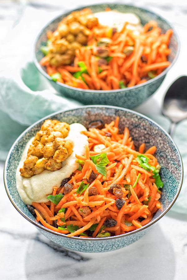 Moroccan Carrot Salad   #vegan #contentednesscooking #glutenfree #salad #carrot