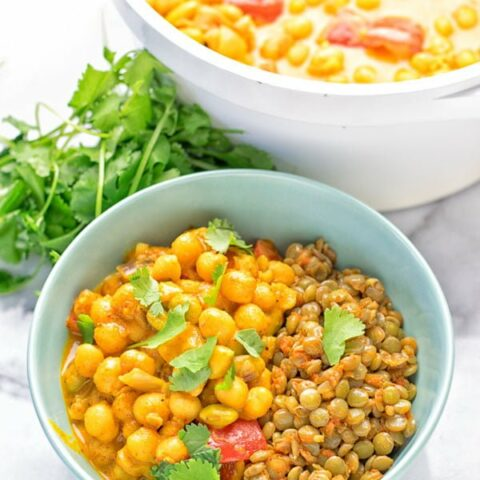 Turmeric Curry with Spicy Lentils | #vegan #glutenfree #contentednesscooking