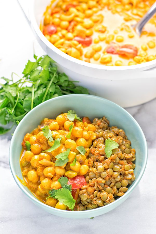 Turmeric Curry with Spicy Lentils