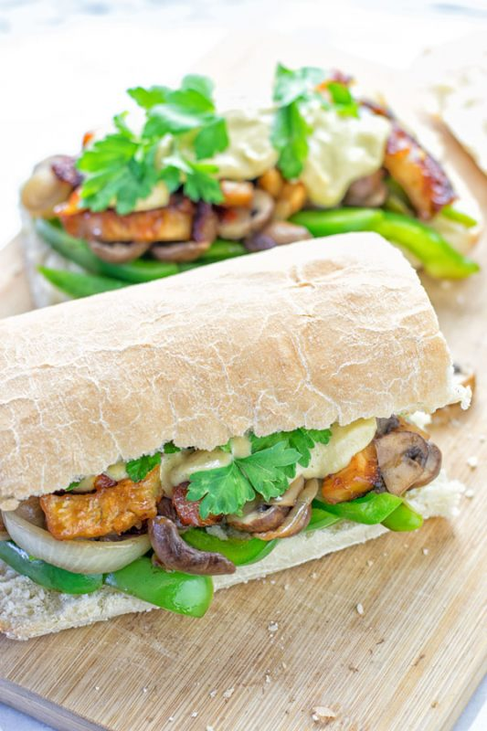 Vegan Philly Cheese Steak | #vegan #glutenfree #contentednesscooking