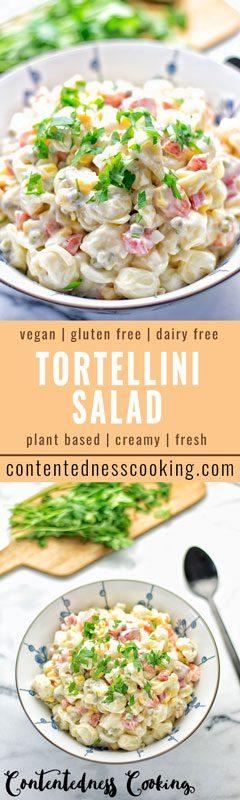 Aioli Tortellini Salad | #vegan #glutenfree #contentednesscooking