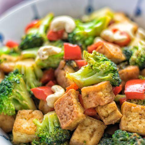 Chinese 5 Spice Tofu Stir Fry | #vegan #contentednesscooking #glutenfree