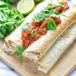 Spinach Artichoke Taquitos | #vegan #glutenfree #contentednesscooking