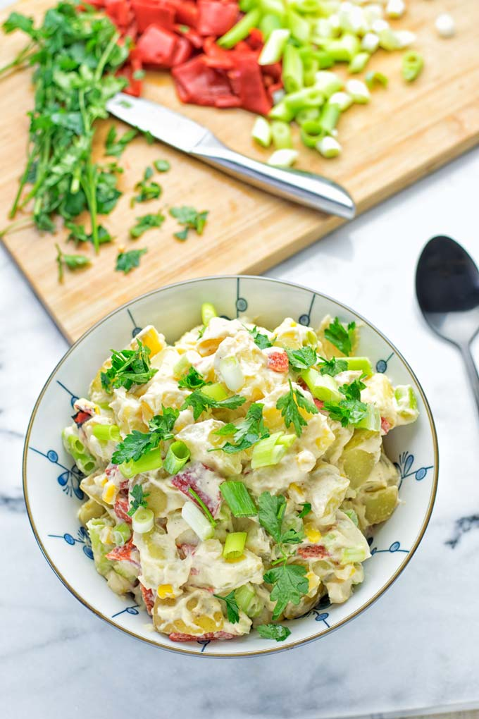 Hummus Potato Salad | #vegan #glutenfree #vegetarian #contentednesscooking #bbq