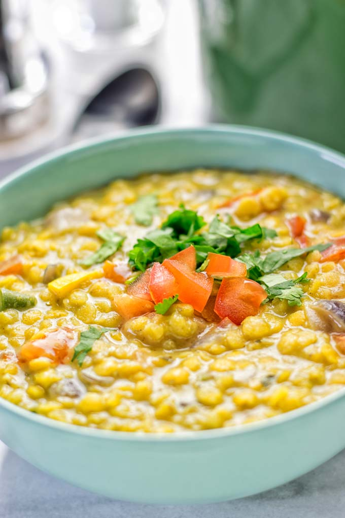 Indian Yellow Split Pea Soup Dal Tadka Contentedness Cooking