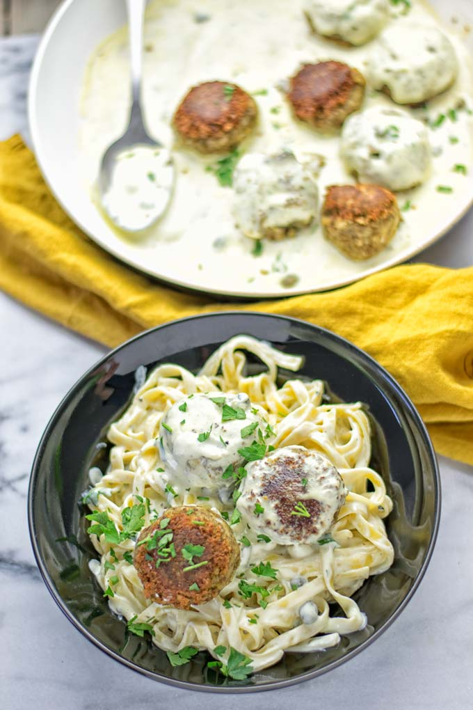Vegetarian Swedish Meatballs | #vegan #contentednesscooking #glutenfree #yum