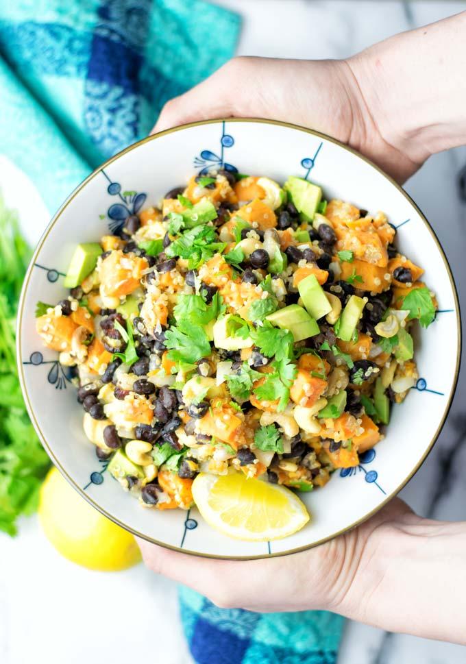 Citrus Quinoa Sweet Potato Salad | #vegan #glutenfree #contentednesscooking #salad #quinoa #dairyfree