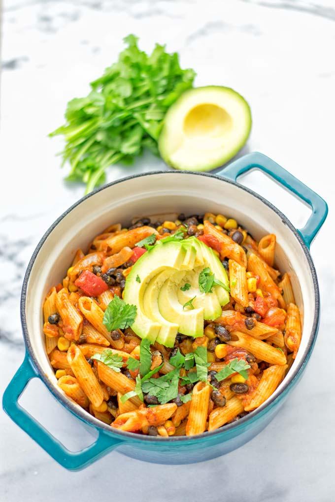 One Pot Taco Pasta | #vegan #glutenfree #dairyfree #plantbased #contentednesscooking
