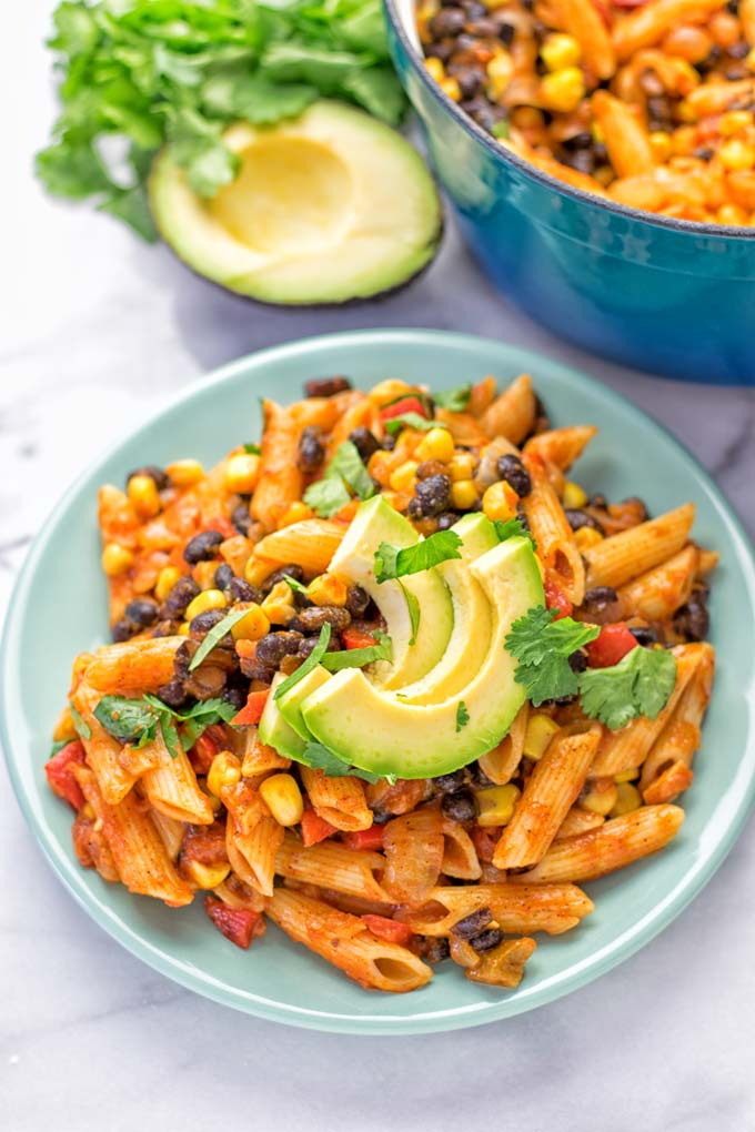 One Pot Taco Pasta | #vegan #glutenfree #dairyfree #plantbased #contentednesscooking