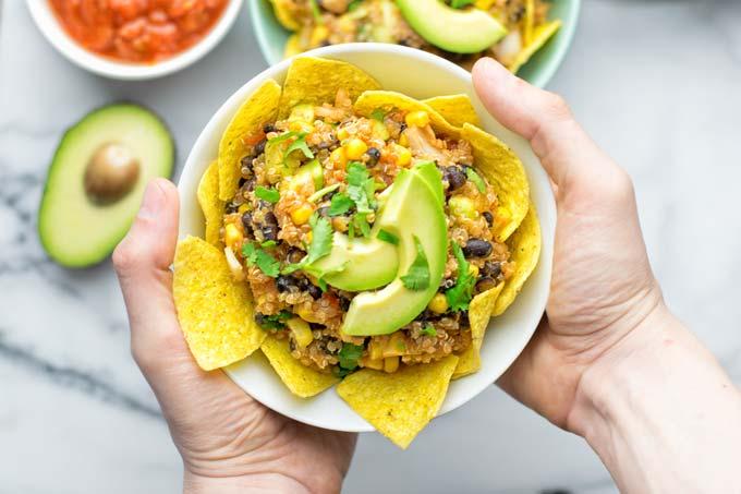 Southwest Quinoa Taco Salad | #vegan #glutenfree #contentednesscooking