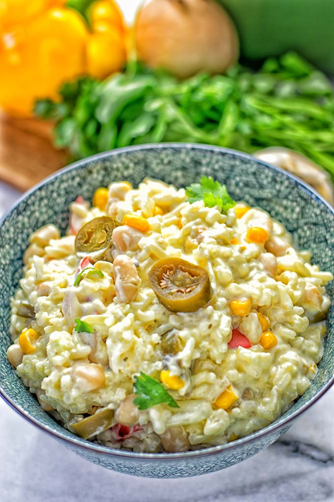 White Chili Rice Casserole | #vegan #glutenfree #contentednesscooking