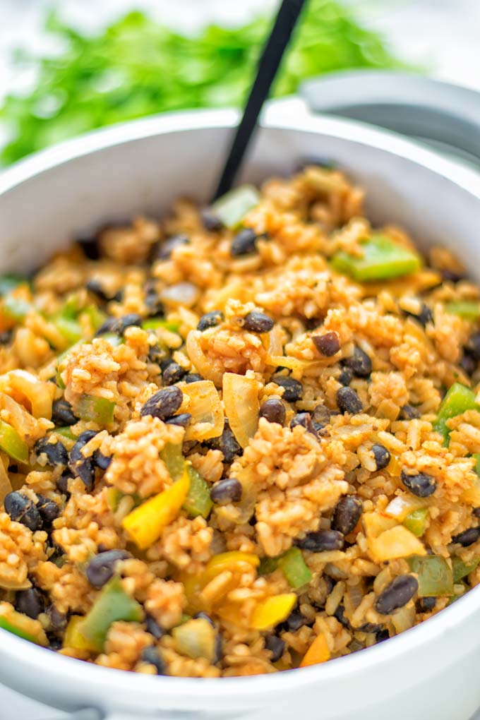 Cuban Rice and Beans | #vegan #glutenfree #contentednesscooking #plantbased #dairyfree