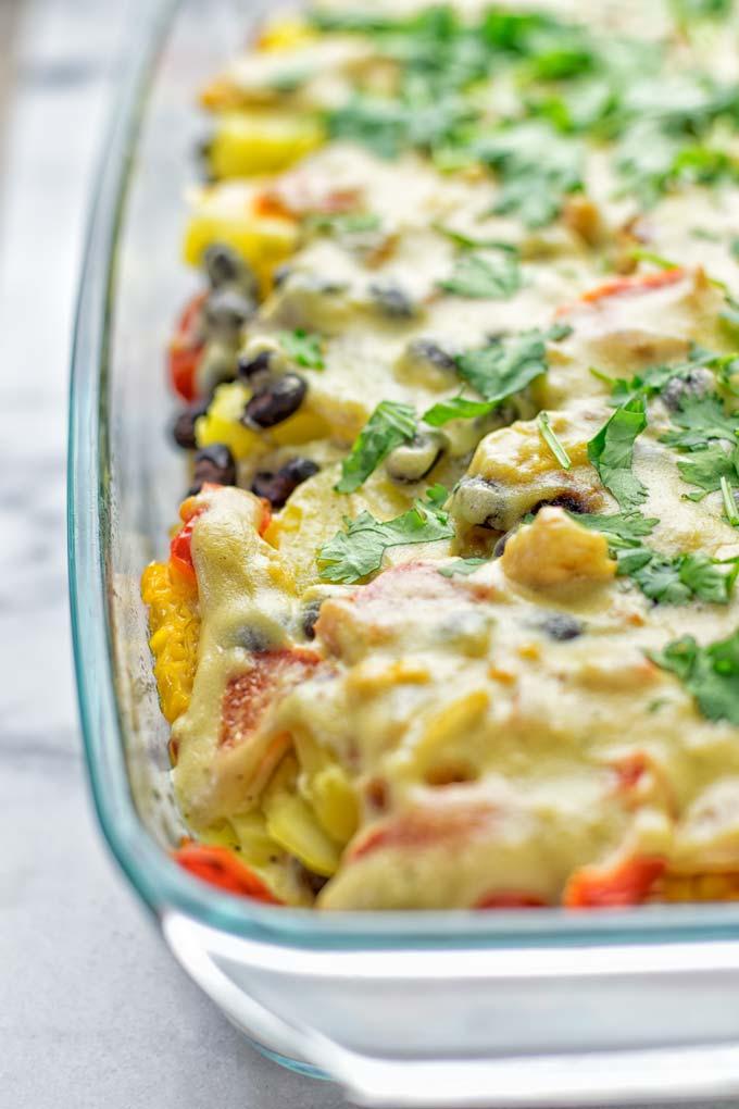Southwest Potato Casserole | #vegan #glutenfree #dairyfree #plantbased #contentednesscooking