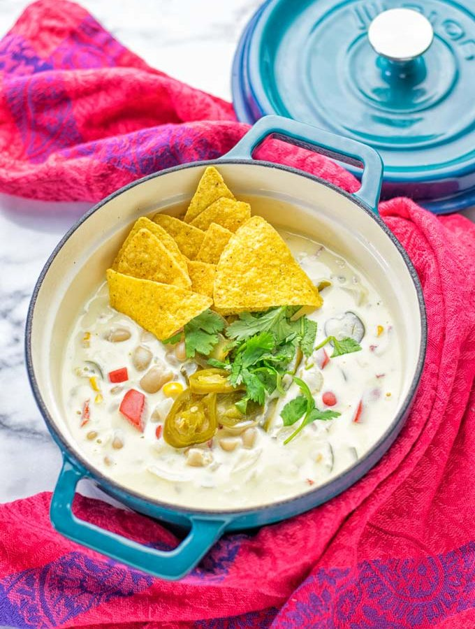 White Chili Taco Soup | #vegan #glutenfree #contentednesscooking #taco #soup