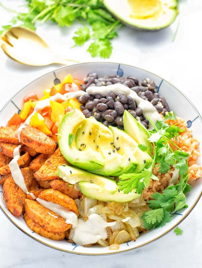 Cajun Sweet Potato Rice Bowl