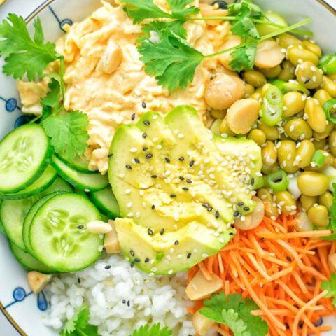 Hawaiian Poke Bowl (meal prep, vegan, gluten free)