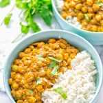 Insanely delicious One Pot Chickpea Biryani full of amazing flavors and naturally vegan, gluten free. An easy dish which is perfect for lunch, dinner, meal prep and work lunch. If you're looking for a super easy biryani try it now. #vegan #glutenfree #dairyfree #vegetarian #chickpeas #chickpeabiryani #biryani #onepotmeals #mealprep #worklunchideas #dinner #lunch #contentednesscooking