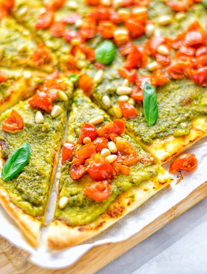 White Bean and Pesto Pizza
