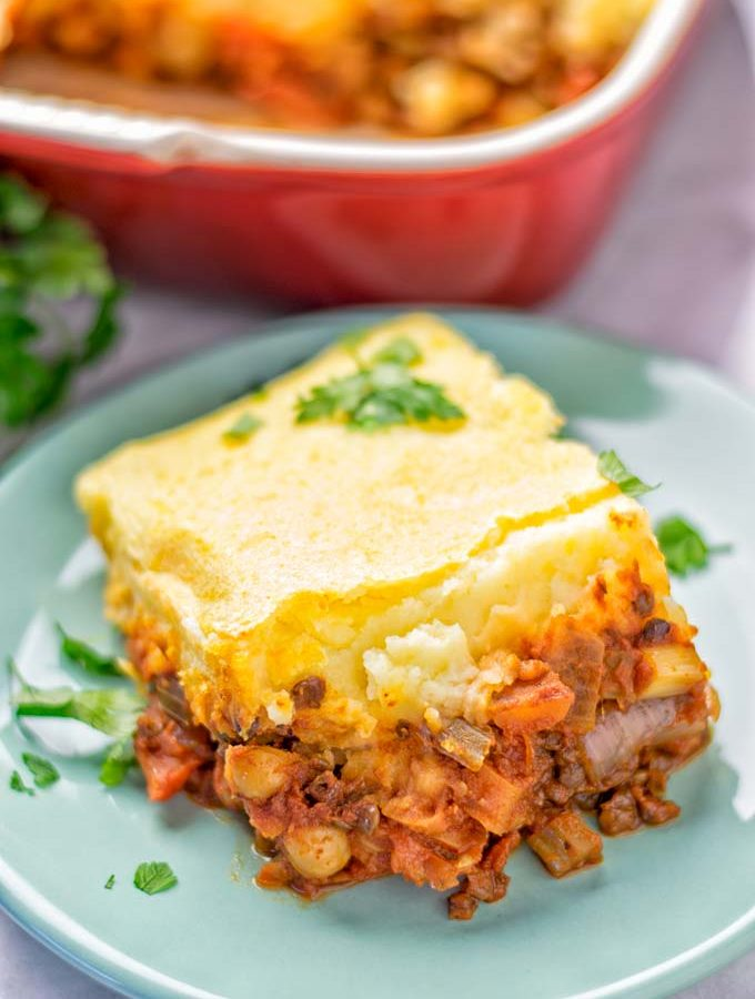 Chickpea Lentil Shepherd's Pie