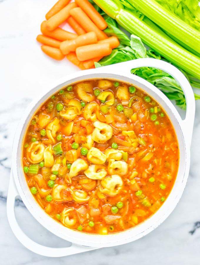 Minestrone Tortellini Soup