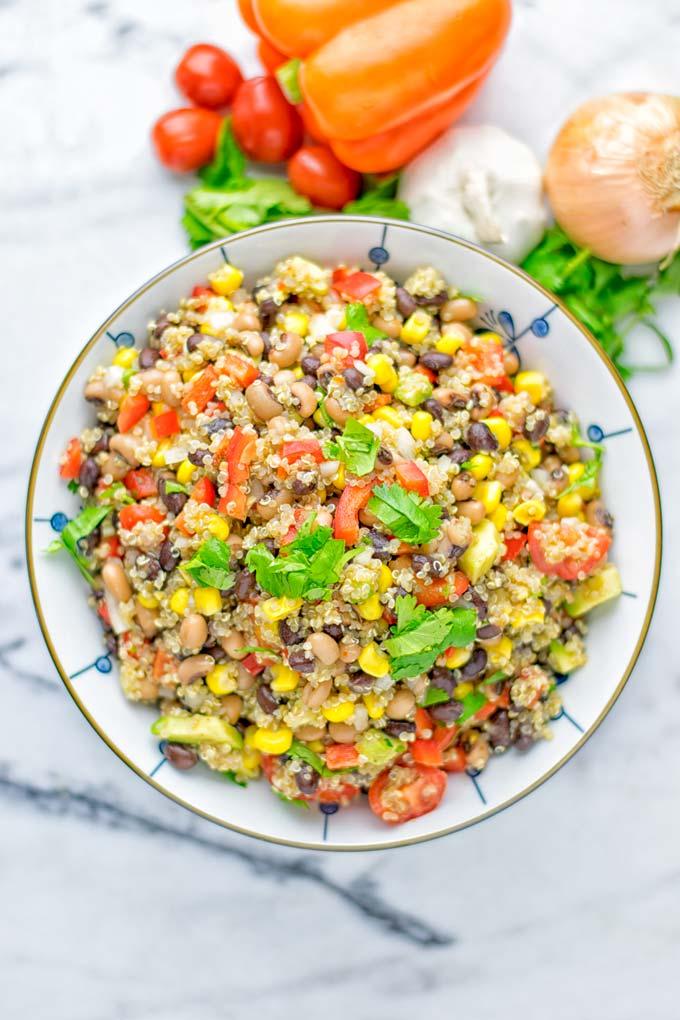 Cowboy Caviar Quinoa Salad Contentedness Cooking