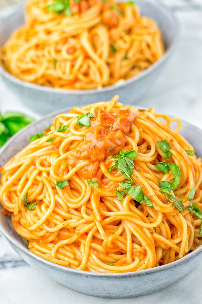 result of Instant Pot Spaghetti after 10 minutes
