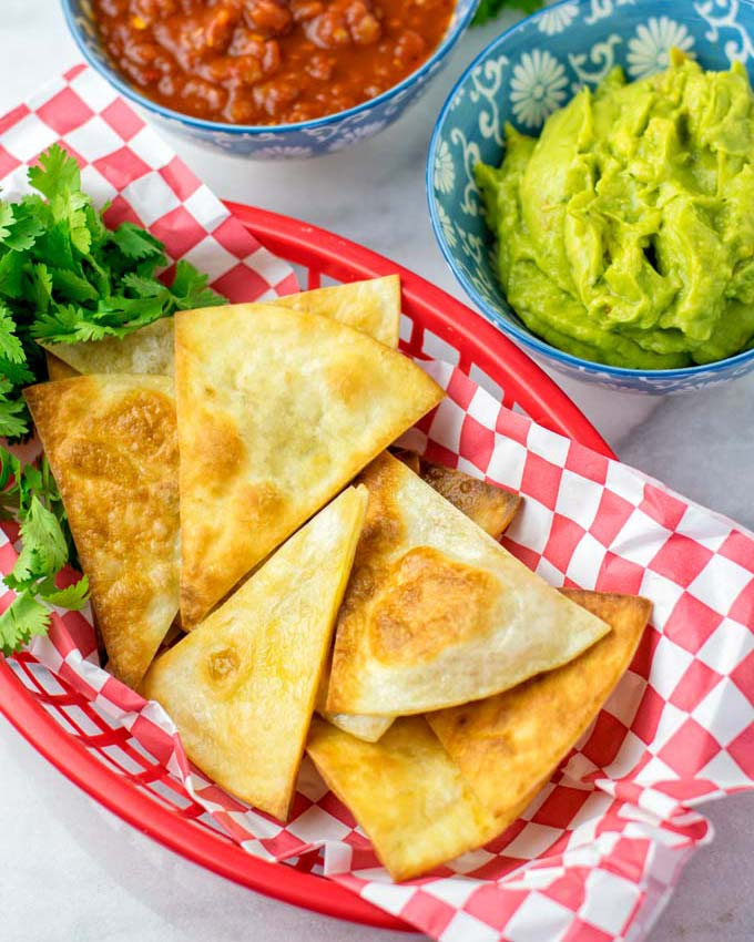 Guac and salsa mix well as an appetizer.