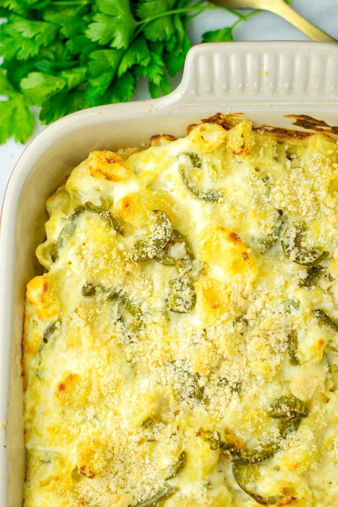 A cheesy crust, totally vegan.