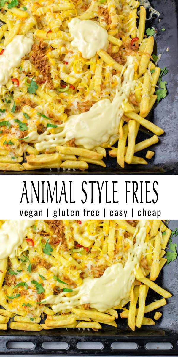These Animal Style Fries are so easy and taste amazing. No one would ever guess they are vegan and mayo free. Try them now for dinner, lunch and wow family and friends, seconds are guarenteed in no time. #vegan #dairyfree #vegetarian #glutenfree #contentednesscooking #dinner #lunch #familydinnerideas #comfortfood #animalstylefries #kidsmealsforpickyeaters