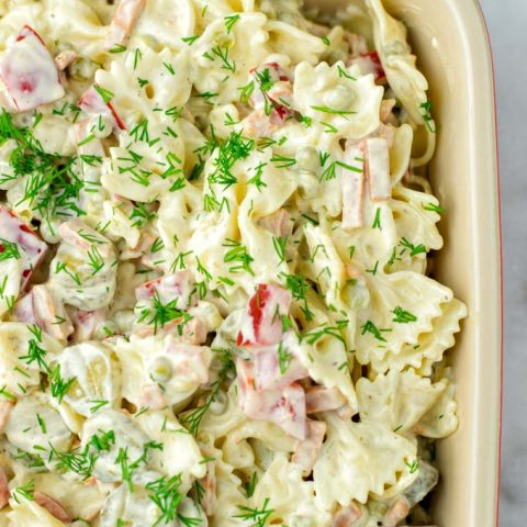 Family approved, this Bow Tie Pasta Salad is an easy win for all.